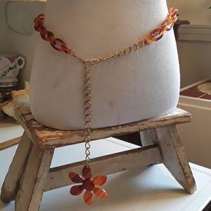 Mod/Hippie Style Belt with Flower